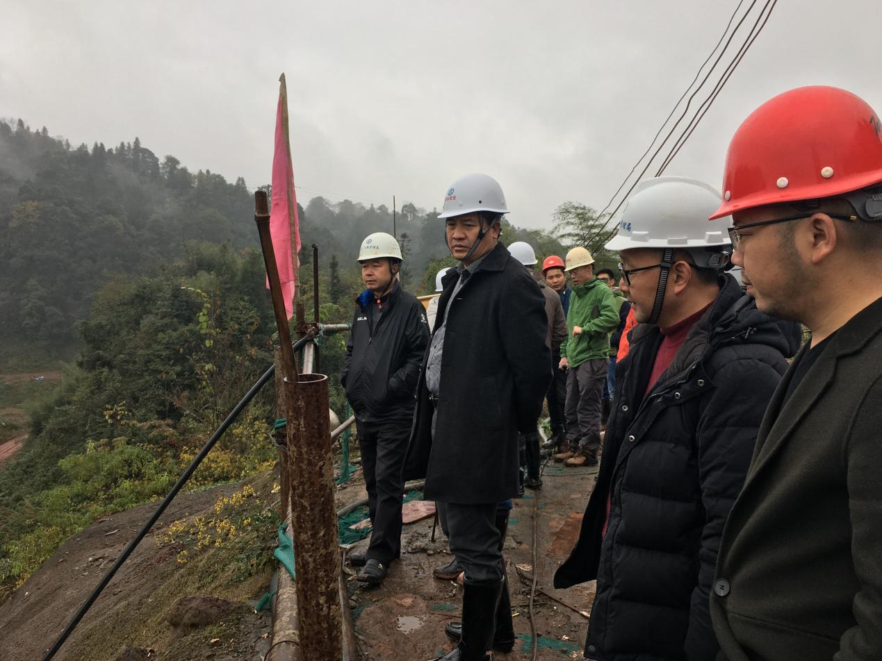 局党委书记王岩飞带队检查九龙水库建设情况