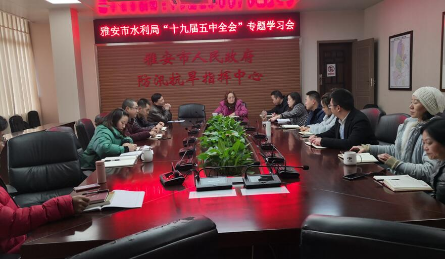 市水利局组织党员干部深入学习党的十九届五中全会精神