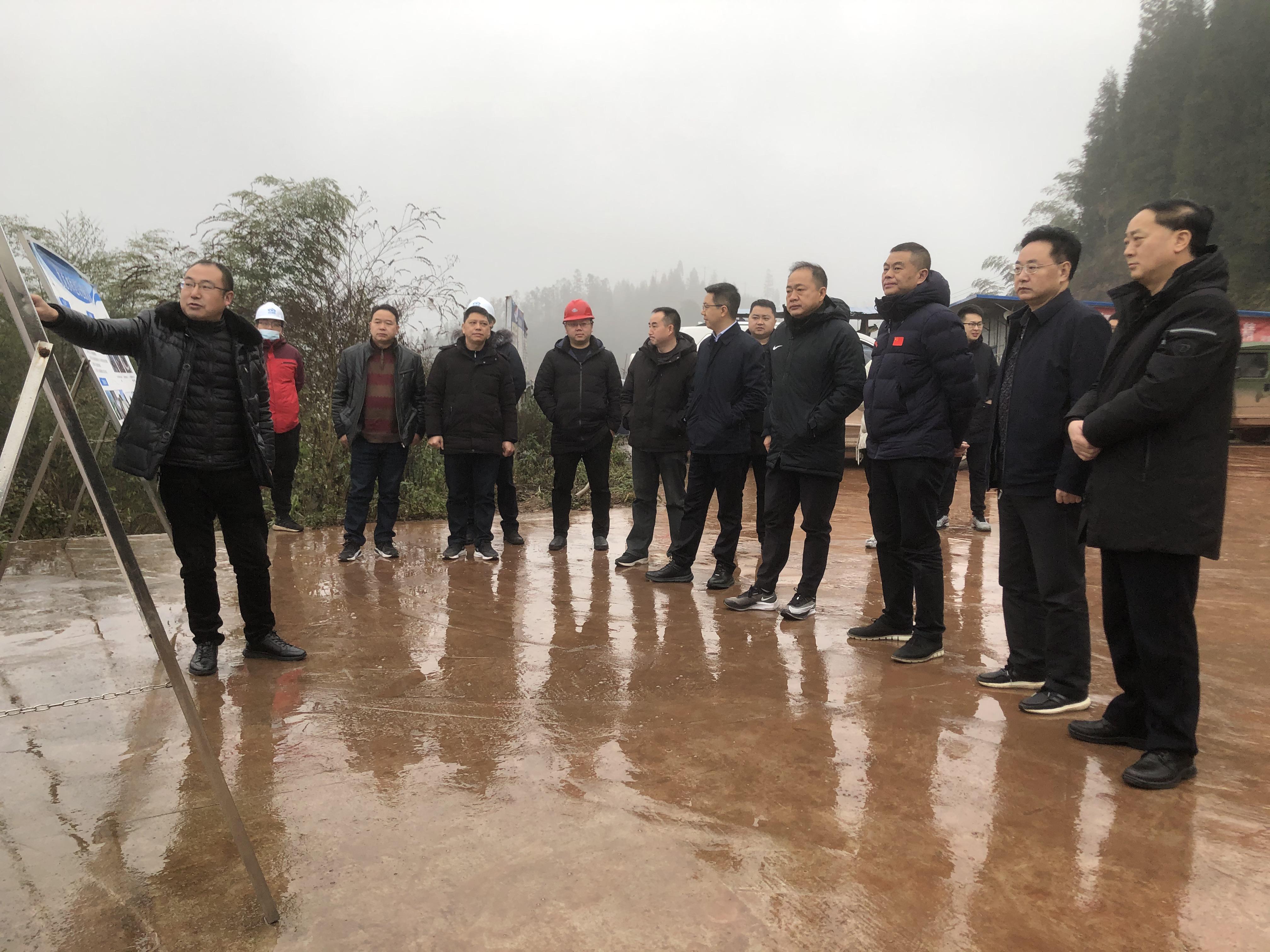 市委副书记白云、副市长王双全一行 赴雨城区调研九龙水库试蓄水和试供水情况