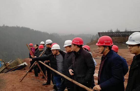 市委常委、副市长白云一行检查指导九龙水库枢纽工程建设