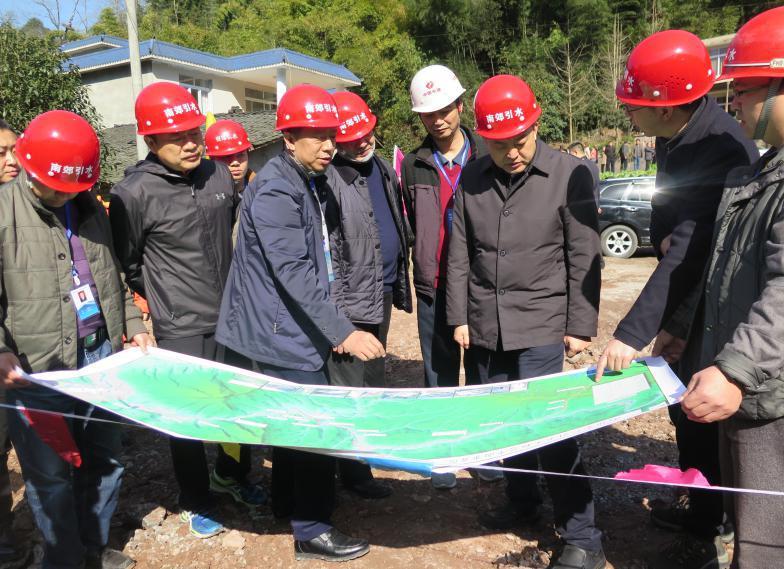 市委书记兰开驰调研铜头引水工程和南郊引水工程建设情况